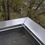 Изготовление и установка парапетов из оцинкованной окрашенной стали (до 1,5мм)